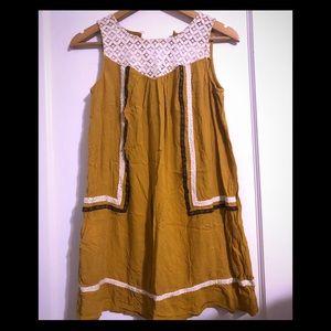 Rewind | Yellow Tunic w. Crochet Detail